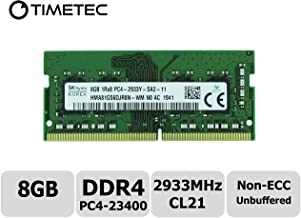 Timetec Hynix Original 8GB DDR4 2933MHz PC4-23400 Unbuffered Non-ECC 1.2V CL21 1Rx8 Single Rank 260 Pin SODIMM Laptop Notebook Computer Memory RAM Module Upgrade (8GB)