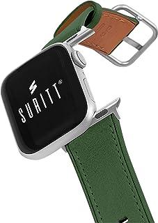 Suritt ® Correa para Apple Watch de Piel Rio (6 Colores Disponibles). 3 Colores de Hebilla y Adaptador para Elegir (Negro ...