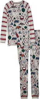 Toddler//Little Kids//Big Kids Hatley Kids Baby Boys Shark Frenzy Organic Cotton Raglan Pajama Set