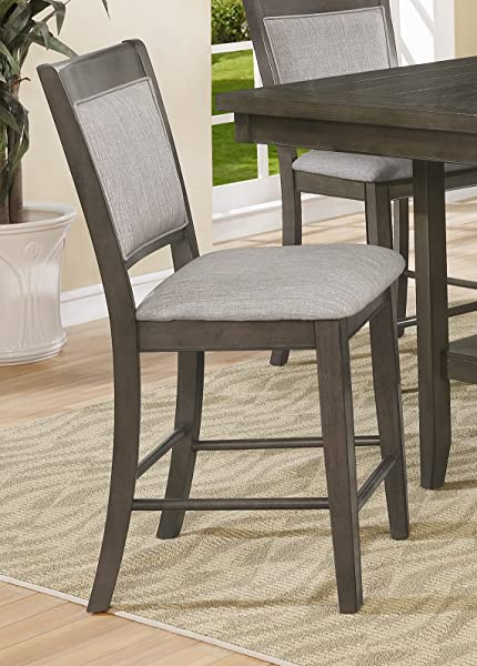American Furniture Classics 2727S Counter Height Upholstered Chair Gray