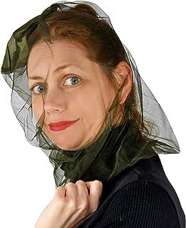 Home-X Anti-Mosquito Mesh Head Net, Bug Face Shield, 100% Polyester Soft Fly Screen Fine Mesh Mosquito Netting-Head Net-Black