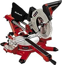 Einhell TE-SM 2534 - Ingletadora telescópica dual, luz LED, tracción integrada, mesa rotativa, 5100 rpm, 1800 W, 230-240 V, color rojo y negro