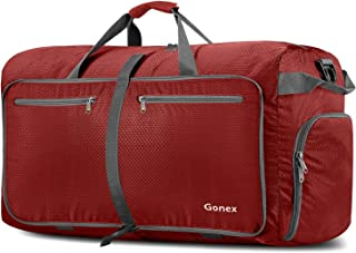 Gonex 100L Foldable Travel Duffel Bag for Luggage Gym Sports, Lightweight Travel Bag with Big Capacity, Water Resistant (Red)
