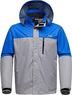 Wantdo Men's Hooded Lightweight Outdoor Sports Windproof Waterproof Rain Jacket