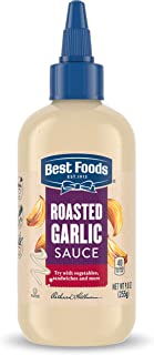 Best Foods Sauce For A Delicious Condiment, Dip and Dressing Roasted Garlic Gluten Free, Dairy Free, No Artificial Flavors...