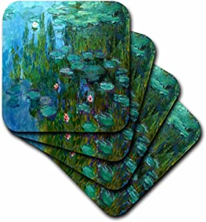 3dRose cst_49340_3 Monets Water Lillies Painting Ceramic Tile Coasters, Set of 4