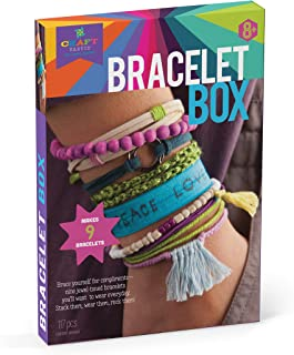 Craft-tastic – Bracelet Box – Jewelry Making Craft Kit Includes 9 DIY Bracelets – Jewel Tones Edition