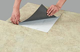 "Ben & Jonah Achim-MajesticTile-10PK-GhibliBeige Regal Collection Pack of 10 x 18"" Self Adhesive Natural Stone 2mm Thick Vinyl Tiles-Ghibli Beige Granite"