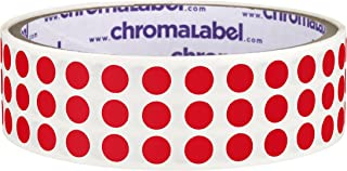 ChromaLabel 1/4 inch Color-Code Dot Labels | 1,000/Roll (Red)
