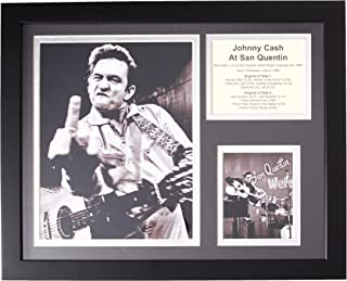 Legends Never Die Johnny Cash at San Quentin Framed Photo Collage, 11x14-Inch
