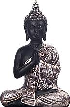 JORAE Seated Buddha Statue Buddhism Thai Meditating Home and Garden Decorative Sculpture Praying Collectibles Figurines, 9...