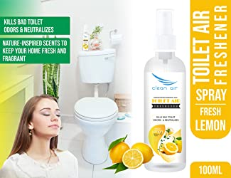 Clean Air Toilet Air Freshener - Fresh Lemon - 100 ml