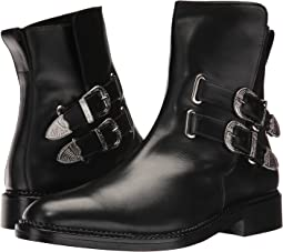 Leather Western Buckle Boot
