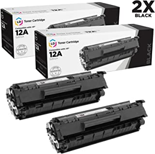LD Compatible Toner Cartridge Replacements for HP 12A (Black, 2-Pack)