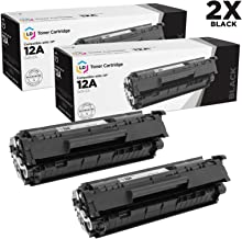 LD Compatible Toner Cartridge Replacements for HP 12A Q2612A (Black, 2-Pack)