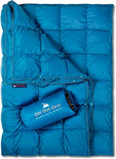 Get Out Gear Double Puffy Camping Blanket - Extra Puffy, Packable, Lightweight and Warm | Ideal for Outdoors, Travel, Stad...