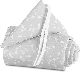 Babybay Original - Nido, color gris perla con estrellas blancas