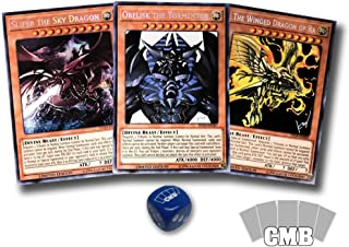 Yugioh All 3 Egyptian God Cards with a Bonus CMB Dice