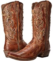 Stetson - Cracked Inlay Snip Toe Boot