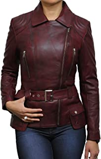 Ladies Genuine Leather Jacket Mid Length Designer