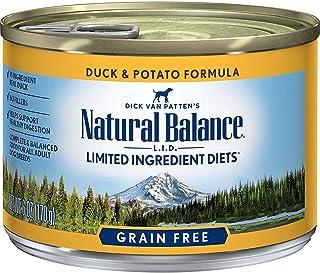 Natural Balance L.I.D. Limited Ingredient Diets Duck & Potato Formula Wet Dog Food, 6 oz., Case of 12, 12 X 6 OZ