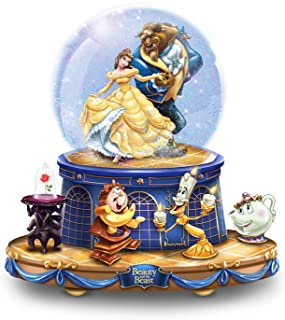 The Bradford Exchange Disney Beauty and The Beast Musical Glitter Globe with Rotating Characters
