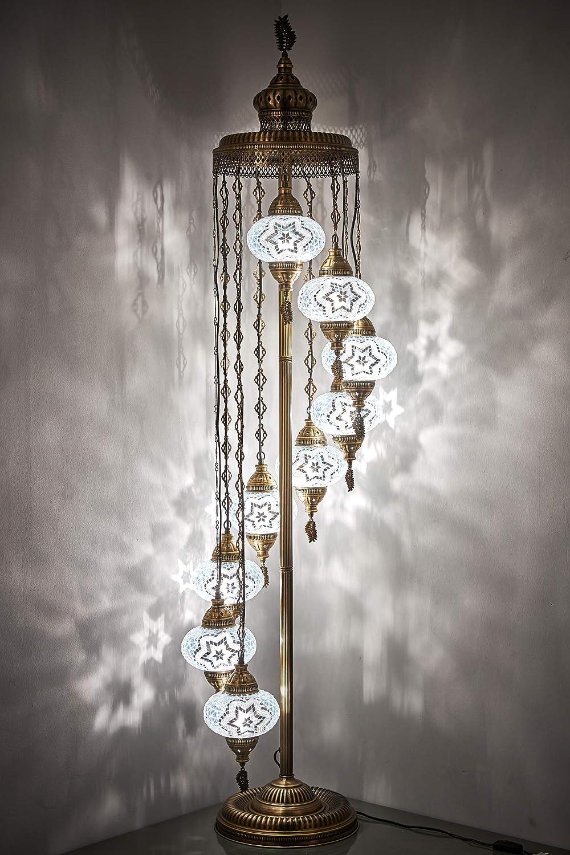 DEMMEX New mail order - 9 Big Globes Turkish Moroccan Light Lamp Mosaic Floor Bargain sale
