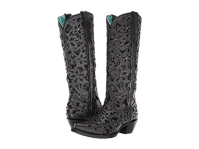 Corral Boots A3589 (Black) Cowboy Boots