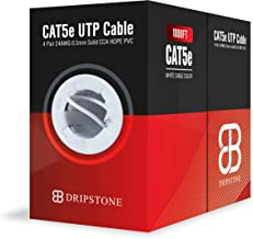 Dripstone CAT5e 1000ft UTP Ethernet Cable 24AWG Bulk LAN Network Wire (White)