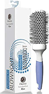 Professional Round Brush for Blow Drying - Medium Ceramic Ion Thermal Barrel Brush for Sleek, Precise Heat Styling and Blowout Volume - Lightweight, Antistatic Bristle Hair Brush by Osensia, 1.7 Inch