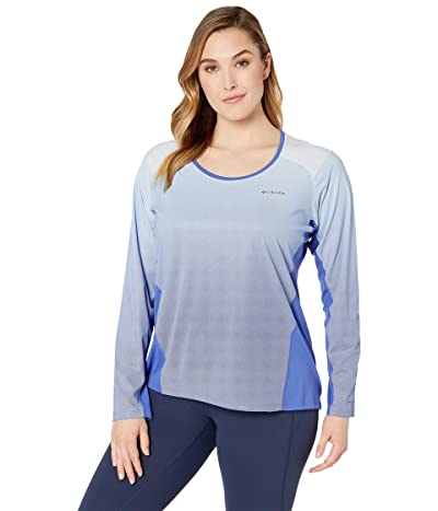 Columbia Plus Size Solar Chilltm 2.0 Long Sleeve Shirt (Arctic Blue) Women