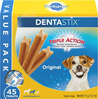 Pedigree Dentastix Grain Free Mini Dental Treats for Small Breed Dogs