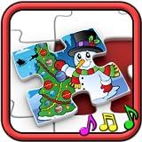 Niños rompecabezas de Navidad formas - juego educativo para niños en...