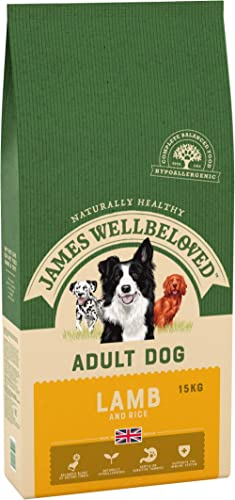 James Wellbeloved Complete Dry Adult Dog Food Lamb and Rice, 15 kg product image