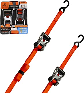 SMARTSTRAPS Ratchet Straps - 10ft OR Premium RatchetX 2pk 3,000lb