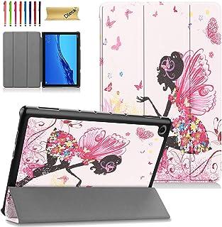 جراب نحيف لهاتف Huawei MediaPad M5 Lite 10.1 بوصة - جراب Dteck خفيف الوزن قابل للطي ثلاثي الطي متعدد الرؤية لهاتف Huawei M...