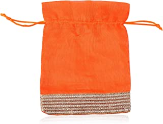 GROWNEX Fancy Women Potli Bags, Small Handbags, Jewellery Pouches (Size- 8 x 6 Inches) (Set of 15 Pouches)