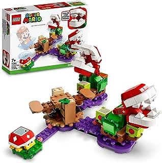 LEGO 71382 Super Mario Piranha Plant Puzzling Challenge-Uitbreidingsset, Soda Jungle Collectible Modulaire Speelset met St...