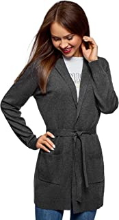 Ultra Women's Belted Cardigan with Patch Pockets