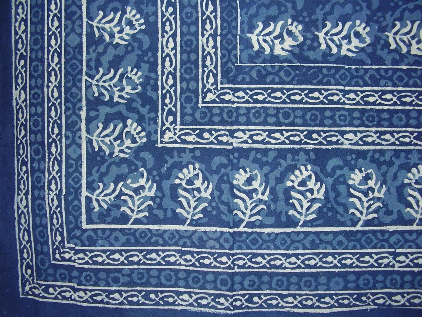Block Print Square Gifts Cotton Tablecloth 58