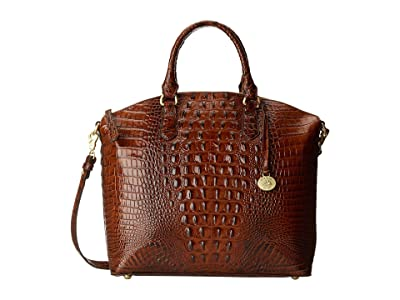 Brahmin Melbourne Large Duxbury Satchel (Pecan) Satchel Handbags