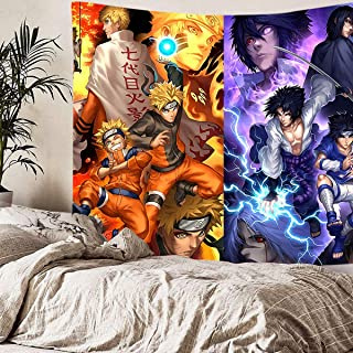 supulu Tapestry Wall Hanging, 3D Naruto Wall Tapestry Anime Tapestries Wall Art Aesthetic Home Decorations for Living Room...