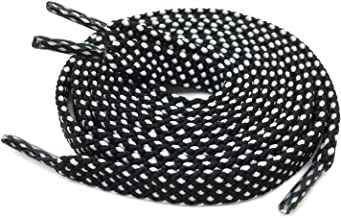 black and white polka dot shoe laces