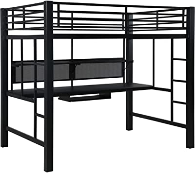 Avalon Full Workstation Loft Bed Black