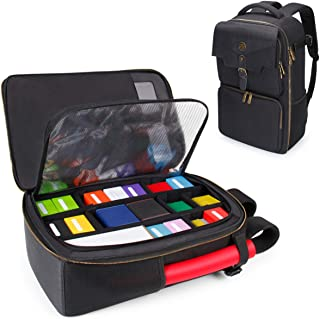 ENHANCE MTG Backpack Playing Card Case - Card Game Backpack Card Holder for Deck Boxes, Sleeved Cards, Large Playmats, and...