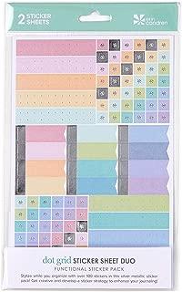 Erin Condren Designer Sticker Pack - Colorful Dot Grid Sticker Sheet Duo