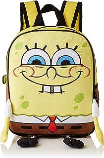 Mochila Infantil Bob Esponja con Aplicaciones de Color Amarillo-Licencia Oficial Nickelodeon Unisex niños, Multicolor, 260X310X100MM