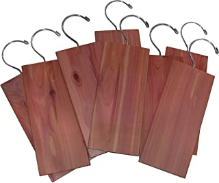 Cedar Hang Ups - Absorb Moisture and Protect and Refresh Your Natural Fabric Clothing and Linens, Set of 8 - By Cedar America