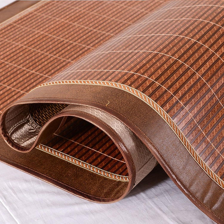 WENZHE Bambus Matratzen Sommer-Schlafmatten Strohmatte Teppiche Zuhause Lieferungen Zusammenklappbar Doppelseitige Verwendung Mit Diesem Set 1,5 1,8 2,0 M (gre   2.0×2.15m)