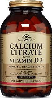 Solgar – Calcium Citrate with Vitamin D3, 240 Tablets